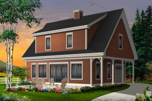 Colonial Exterior - Front Elevation Plan #23-2487