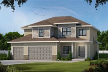 Architectural House Design - Traditional Exterior - Front Elevation Plan #20-2406