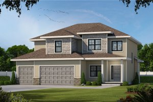 Traditional Exterior - Front Elevation Plan #20-2406