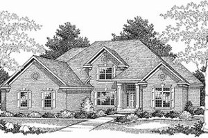 Traditional Exterior - Front Elevation Plan #70-527