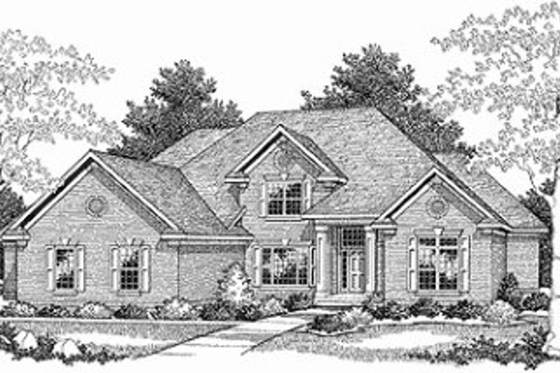 Traditional Exterior - Front Elevation Plan #70-527 - Houseplans.com