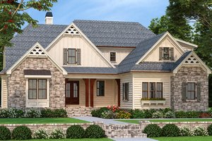 Home Plan Design - Farmhouse Exterior - Front Elevation Plan #927-1000