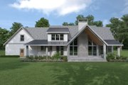 Cottage Style House Plan - 3 Beds 3 Baths 2915 Sq/Ft Plan #1070-72 Exterior - Rear Elevation