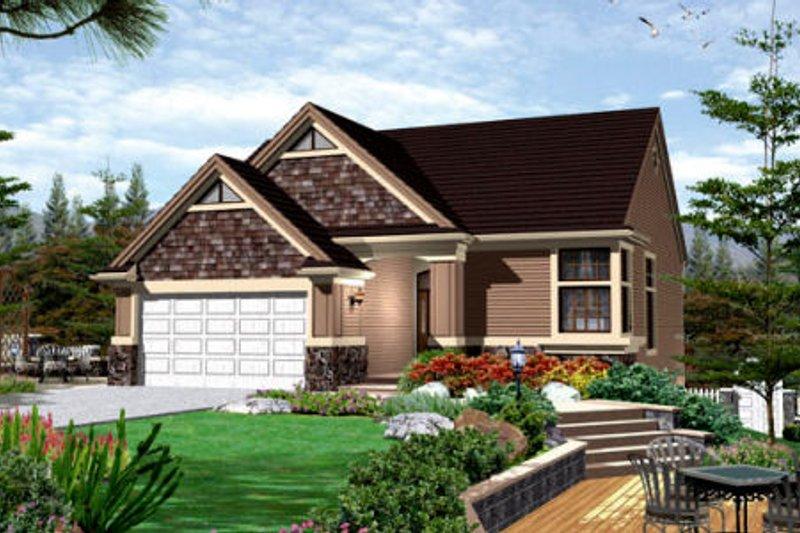 Home Plan - Bungalow Exterior - Front Elevation Plan #48-272