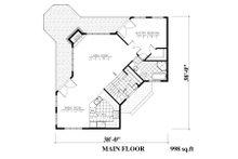 Traditional Floor Plan - Main Floor Plan Plan #138-340