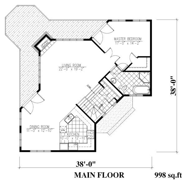 Traditional Floor Plan - Main Floor Plan Plan #138-340
