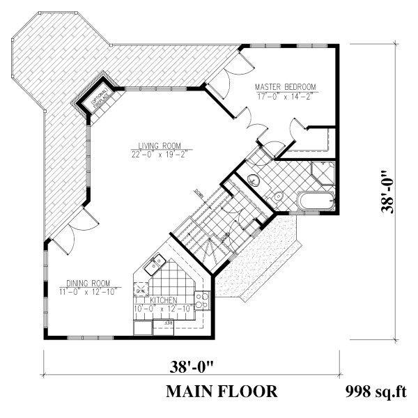 Traditional Floor Plan - Main Floor Plan #138-340
