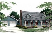 Country Style House Plan - 3 Beds 2.5 Baths 2132 Sq/Ft Plan #406-229 Exterior - Front Elevation