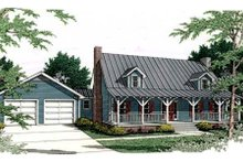 Architectural House Design - Country Exterior - Front Elevation Plan #406-229