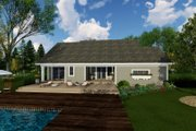 Craftsman Style House Plan - 3 Beds 2 Baths 1866 Sq/Ft Plan #51-514 Exterior - Rear Elevation