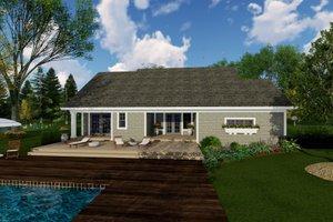 Craftsman Exterior - Rear Elevation Plan #51-514