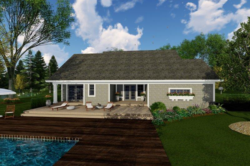 Craftsman Exterior - Rear Elevation Plan #51-514 - Houseplans.com