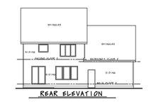House Plan Design - Traditional Exterior - Rear Elevation Plan #20-2282
