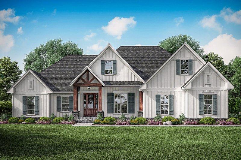 Architectural House Design - Farmhouse Exterior - Front Elevation Plan #430-195