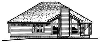 Traditional Exterior - Rear Elevation Plan #20-154 - Houseplans.com