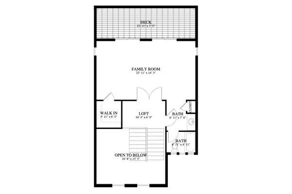 Traditional Floor Plan - Upper Floor Plan #1060-69