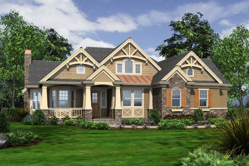 Country Style House Plan - 3 Beds 3.5 Baths 3020 Sq/Ft Plan #132-204 Exterior - Front Elevation
