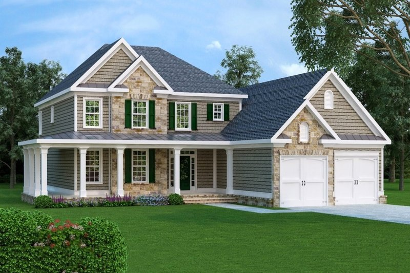 Dream House Plan - Traditional Exterior - Front Elevation Plan #419-171