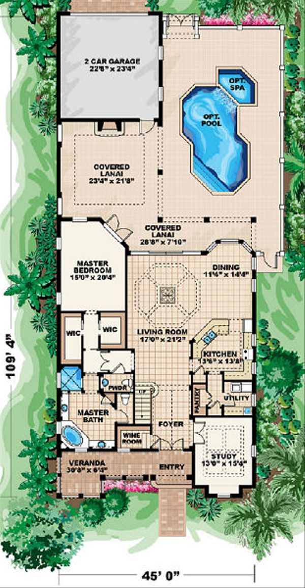 Beach Floor Plan - Main Floor Plan Plan #27-367