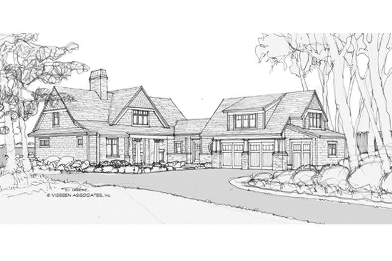Architectural House Design - Craftsman Exterior - Front Elevation Plan #928-254