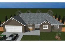 Dream House Plan - Ranch Exterior - Front Elevation Plan #1060-35