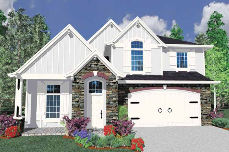 Country Exterior - Front Elevation Plan #509-360 - Houseplans.com