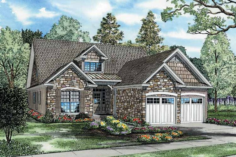 Craftsman Exterior - Front Elevation Plan #17-2676