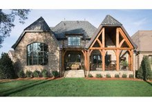House Plan Design - European Exterior - Rear Elevation Plan #453-606