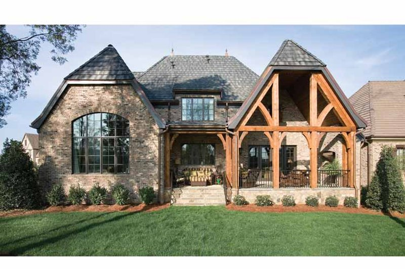 European Exterior - Rear Elevation Plan #453-606 - Houseplans.com
