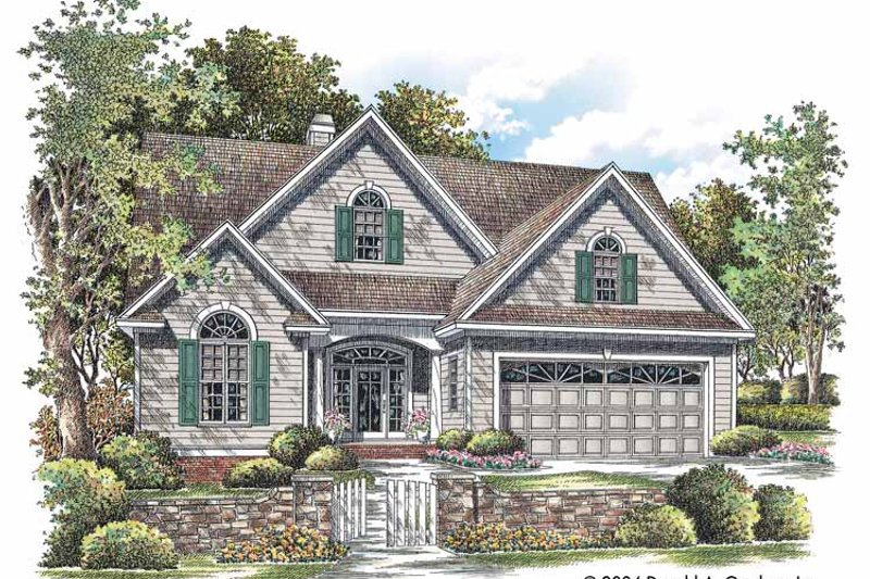 Ranch Exterior - Front Elevation Plan #929-725