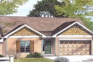 Traditional Exterior - Front Elevation Plan #53-103