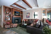 Prairie Style House Plan - 4 Beds 4 Baths 8077 Sq/Ft Plan #928-62 Interior - Family Room