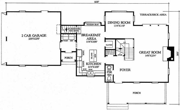 Architectural House Design - Farmhouse Floor Plan - Main Floor Plan #137-106