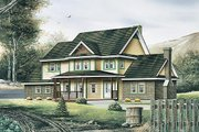 Victorian Style House Plan - 4 Beds 2.5 Baths 2280 Sq/Ft Plan #57-442 Exterior - Front Elevation