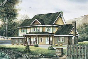 Victorian Exterior - Front Elevation Plan #57-442