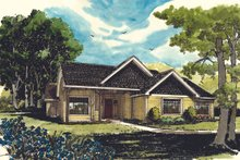 Ranch Exterior - Front Elevation Plan #942-21