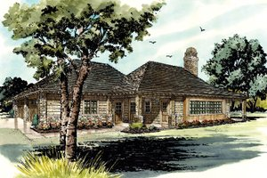 Country Exterior - Front Elevation Plan #942-28
