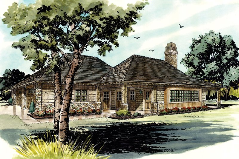 Architectural House Design - Country Exterior - Front Elevation Plan #942-28