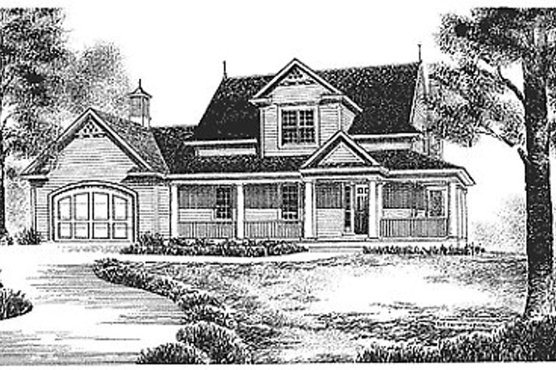 Dream House Plan - Traditional Exterior - Front Elevation Plan #70-201