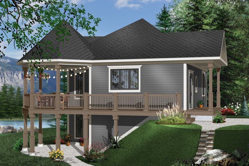 Architectural House Design - Victorian Exterior - Front Elevation Plan #23-161