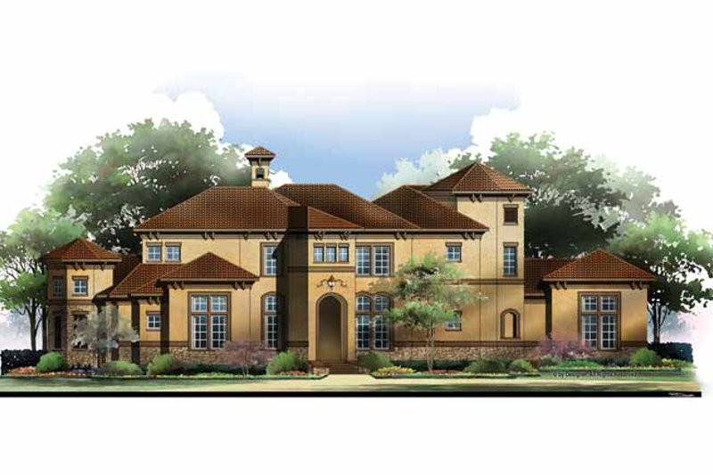 Mediterranean Exterior - Front Elevation Plan #952-210 - Houseplans.com