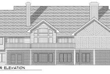 Dream House Plan - Country Exterior - Rear Elevation Plan #70-788