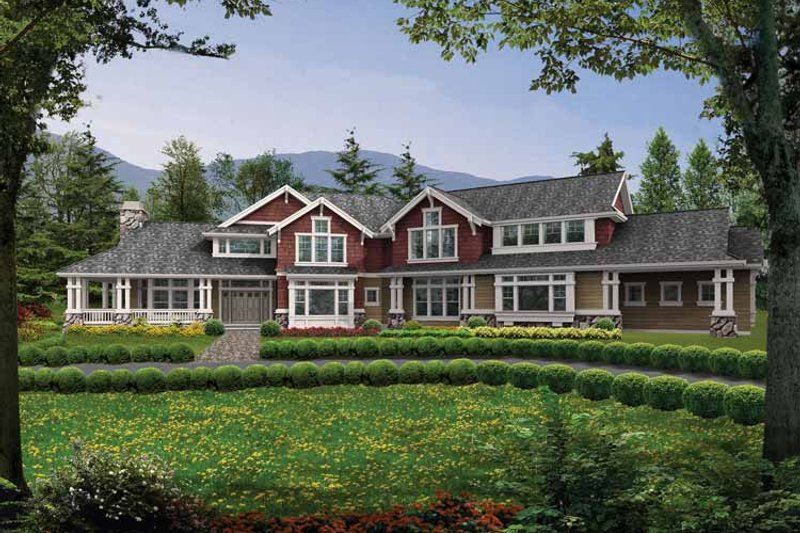 Craftsman Exterior - Front Elevation Plan #132-347