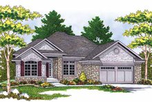 Country Exterior - Front Elevation Plan #70-1368