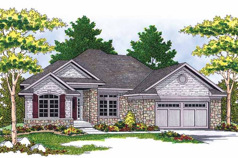 Dream House Plan - Country Exterior - Front Elevation Plan #70-1368