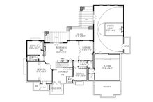 Craftsman Floor Plan - Lower Floor Plan Plan #920-24