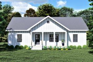 Cottage Exterior - Front Elevation Plan #44-246