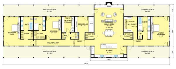 Ranch Floor Plan - Main Floor Plan Plan #888-6