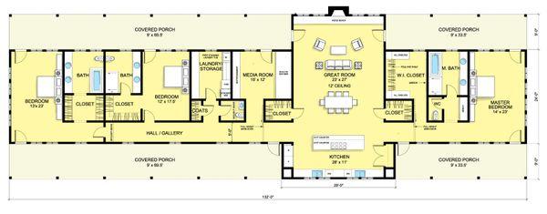 Ranch Floor Plan - Main Floor Plan Plan #888-6