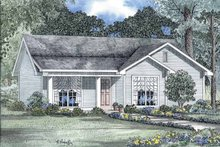 Architectural House Design - Country Exterior - Front Elevation Plan #17-2726